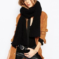 Stitch & Pieces | Stitch & Pieces Soft Knit Blanket Scarf at ASOS