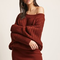 Cable-Knit Mini Dress