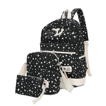 2016 Luggage Bags Fashion Star Women Men Canvas Backpack Schoolbags For Girls Boys Teenagers Casual Travel Bags Rucksack Backpac