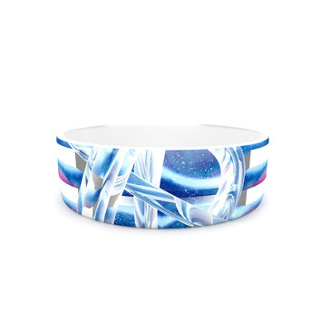 "Infinite Spray Art ""New Era"" Blue Green Pet Bowl"