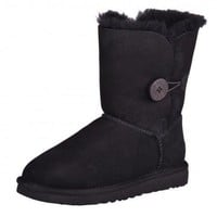UGG WS Bailey BOUTON NOIR BOOTS bottes d'HIVER BOTTES CHAUSSURES 5803 W / BLK