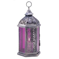 Enchanted Fuschia Candle Lamp