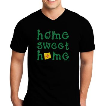 Home Sweet Home - New Mexico - Cactus and State Flag Adult Dark V-Neck T-Shirt by TooLoud