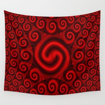 Red Christmas Decoration #4 Wall Tapestry by Moonshine Paradise