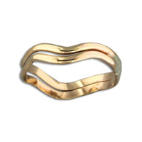 Double Wave Ring - Gold Filled