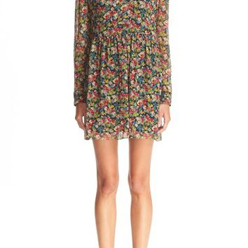RED Valentino Floral Print Silk Dress | Nordstrom