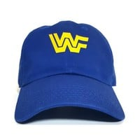 WWF Classic 80's Logo Dad Hat Yellow Blue