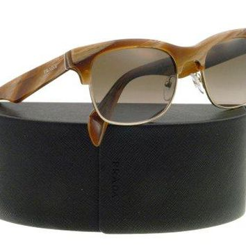 NEW Prada Sunglasses SPR 11P Stripe brown MAQ1X1 SPR11P 54mm