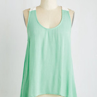 Boho Mid-length Sleeveless The More You Flow Top by ModCloth