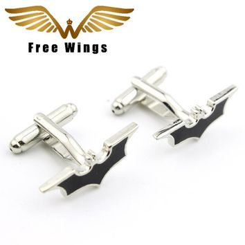 1 Pair Bat Vintage Gothic fashion Cufflinks Movie Jewelry for Men and 5d2