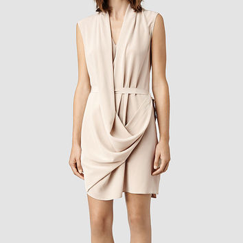 Womens Renati Dress (Dusty Pink) | ALLSAINTS.com