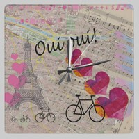 Oui Oui Clock from Zazzle.com