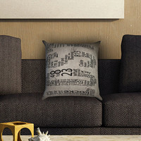 Lost TV Series Quotes Game Pillow Cover , Custom Zippered Pillow Case One Side Two SIde