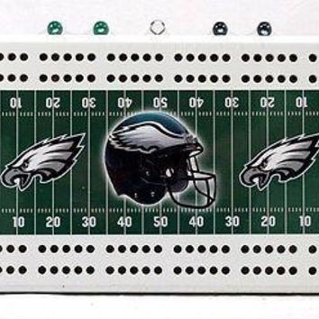 Philadelphia Eagles NFL 2 Track Cribbage Board