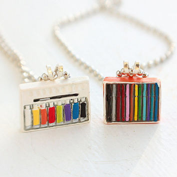 Artist Best Friends Necklaces  Miniature by bookmarksnrings