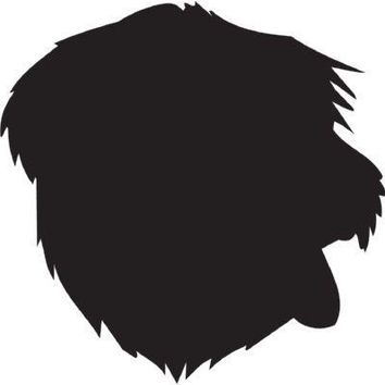 Sapsali Silhouette Dog Puppy Breed Long Die Cut Vinyl Transfer Decal Sticker