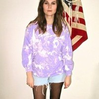 London Loves LA — Copson Street Wash Out Jumper in Lilac