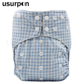 [usurpon] 1 pc Organic cloth diapers baby with cotton inner baby cloth diapers washable eco cotton fabric reusable cloth diaper