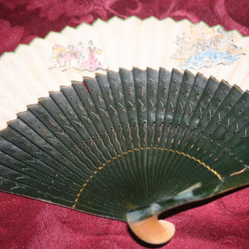 Vintage Ladies Hand Fan, Ornate Hand Fan