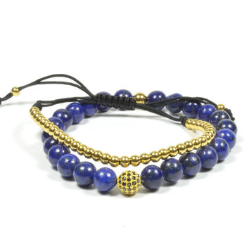 Gold and Lapis Lazuli 2 Pack