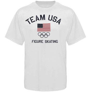 US Figure Skating Fired Up T-Shirt - White