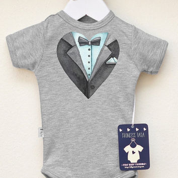 Cute Baby Boy Tuxedo Bodysuit. Baby Boy Elegant Outfit. Tuxedo Bow Tie Baby Shirt. Cute Baby Boy Clothes. Baby Boy Outfit. Choose Your Color
