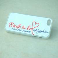Bride to Be Silicone iPhone Case + Future Mrs Monogram + Fall Wedding + Orange + Silver