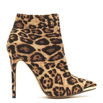 SLICK KITTY LEOPARD BOOTIE