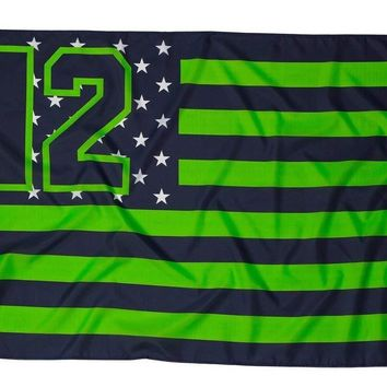 Seattle Seahawks 12th Man Game Day 3x5 Flag
