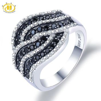 Hutang Engagement Ring Gemstone Natural Spinel Topaz Solid 925 Sterling Silver Fine Fashion Stone Jewelry For Women's Gift New