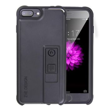 Creative personality iphone6s lighter  iphone case  7 plus open bottle opener smoke proof protective