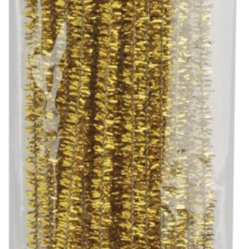 Gold Tinsel Stems 12 3mm Christmas Crafts 35 Pkg