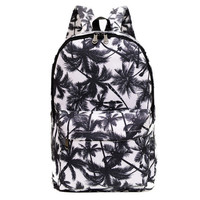 Women's Lightweight Printed Canvas Backpack Daypack