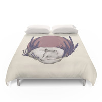 Society6 Fox & Lavender Duvet Cover