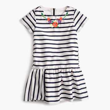 Girls' striped necklace dress : Girl dresses | J.Crew