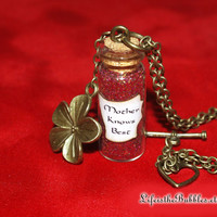 Tangled, Mother Gothel, Mother Knows Best Necklace with a Magical Antique Golden Flower Charm, Disney Villain, by Life is the Bubbles
