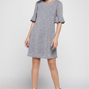 Women's BCBGeneration Column Dress with 3/4 Bell Sleeves