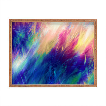Caleb Troy Paint Feathers In The Sky Rectangular Tray