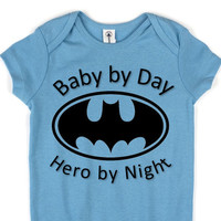 Baby by Day Hero By Night // Batman // 3 Snap Creeper // Baby Boy  // Multi Colors  Available