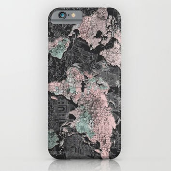 World map iPhone & iPod Case by Bekim ART