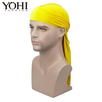 2018 New High Premium Velvet Durag Waves Extra Long Tail and Wide Straps for Du-RAG Make middle stitch on outside