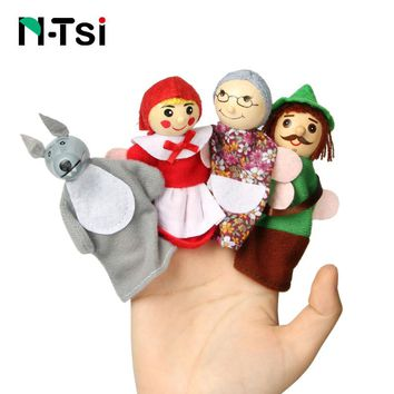 Cartoon characters finger puppets