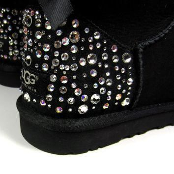 EXCLUSIVE - Swarovski Crystal Embellished Bailey Bow Uggs in Sparkly Night (TM) Toddle