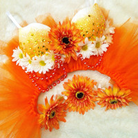 Orange Daisy Outfit