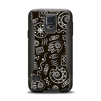 The Black and White Cave Symbols Samsung Galaxy S5 Otterbox Commuter Case Skin Set