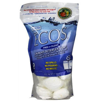 Earth Friendly Ecos Free & Clear Laundry Pods (6x17.98oz)