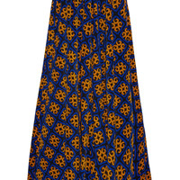 Finds - + Talbot Runhof printed stretch-corduroy maxi skirt