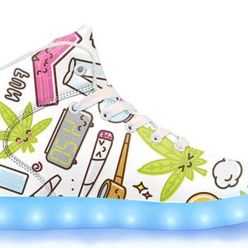Clam Baked - APP Controlled High Top LED Shoes