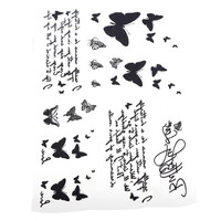 butterflies and script temporary tattoos