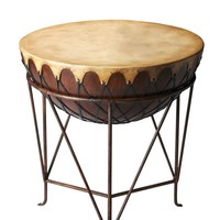 Transitional Round End Table Multi-Color